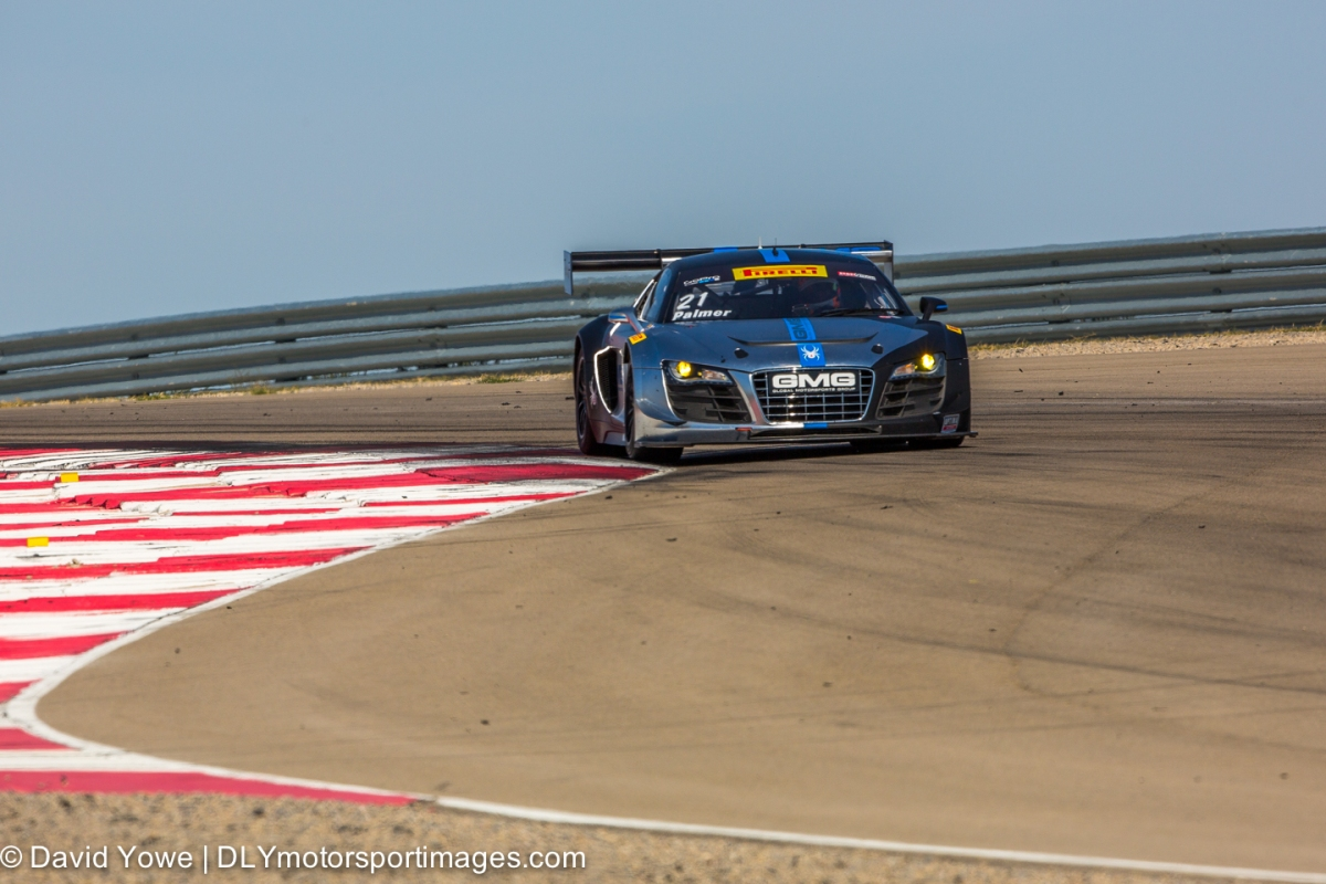 #2 CRP Racing Audi R8 LMS Ultra)#21 Global Motorsports Group Audi R8)