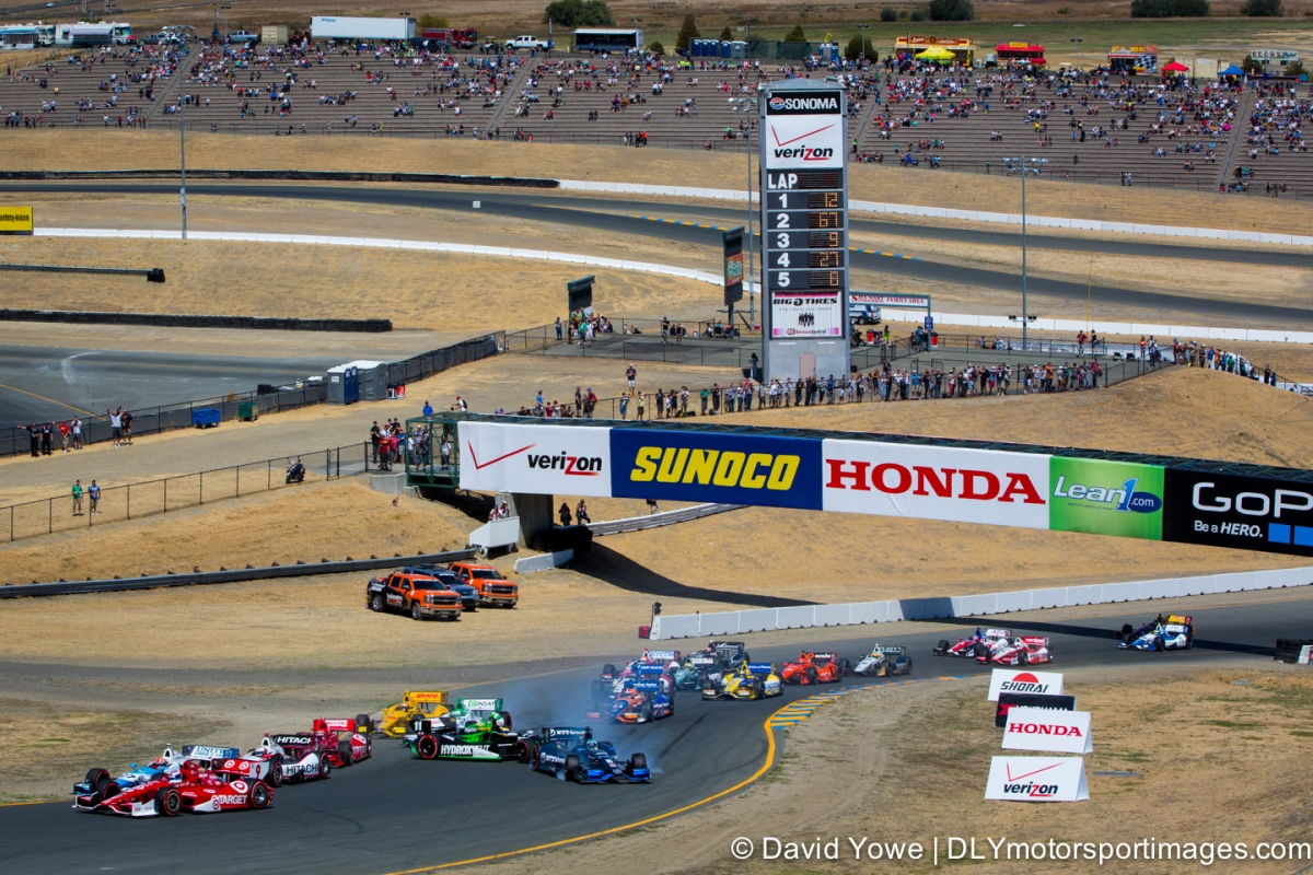 2014 Sonoma (Race start crash)