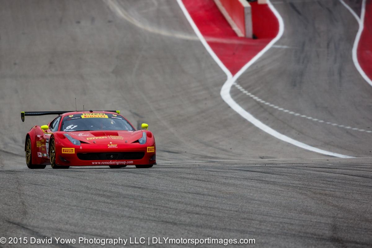 2015 COTA (#61 R. Ferri Motorsport Ferrari)