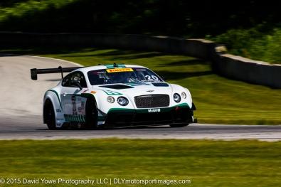Flying Bentley with Butch Leitzinger in the #20 Bentley Team Dyson Racing Bentley Continental GT3