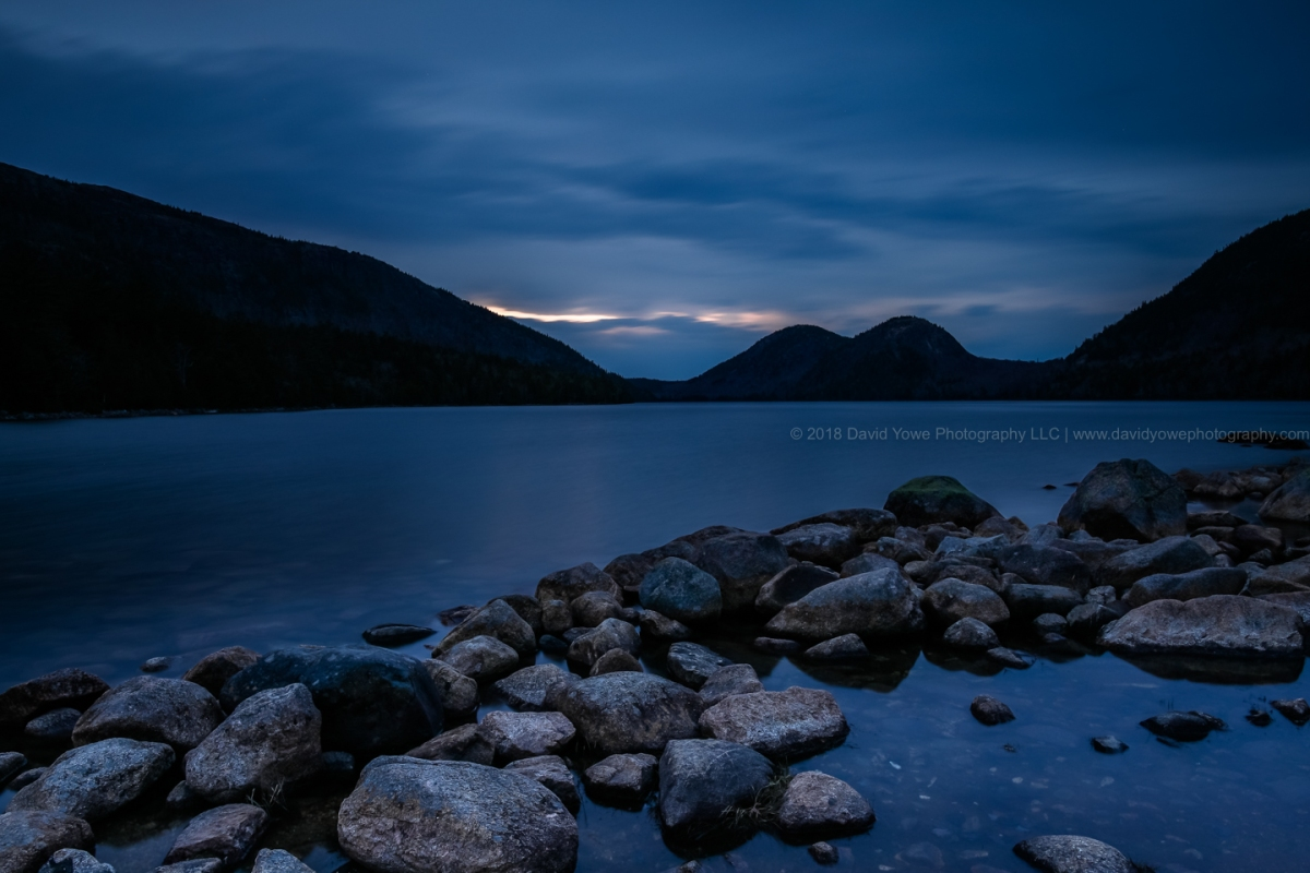 2018 Acadia (Blue hour at Jordan Pond
